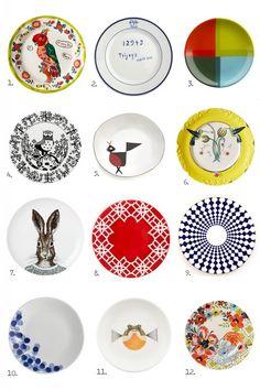 mix of vintage plates - Buscar con Google