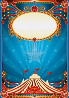 A blue circus background for a poster with a spot ligth. Read your message !