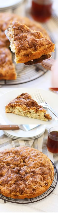 Apple Coffee Cake - sweet and decadent coffee cake loaded with apple, this cake is super easy to bake and perfect with tea or coffee   rasamalaysia.com