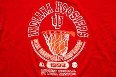 Indiana Hoosiers 1993 T-Shirt, Starter, NCAA Basketball Tournament, Vintage 90s
