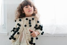 Fun bobble decorated alpaca knitwear for kids at Cabbages and Kings fall 2016