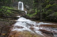 Virginia Falls, Glacier National Park, Montana - photo by Jacob W. Frank (pinned by haw-creek.com)