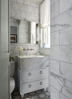 Emmy Rossum's Manhattan Bathroom - ELLEDecor.com