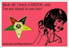 Sisters have your back ...;)
