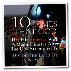 Read more here http://whygodreallyexists.com/archives/10-times-that-god-has-hit-america-with-a-major-disaster-after-the-u-s-attempted-to-divide-the-land-of-israel-michael-snyder  In the Scriptures we are repeatedly told that God will bless those that bless Israel and will curse those that curse Israel.  When Barack Obama blocked a similar resolution that France wanted to submit for a vote in September 2015, it resulted in America being blessed, and we definitely have been blessed ove..