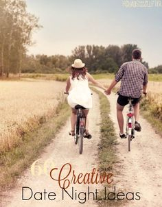 Creative Date Night ideas for couples. These are fun suggestions and most are inexpensive or free.
