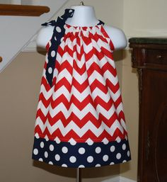 July 4th Pillowcase dress