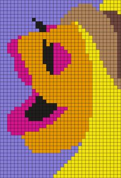 The Electric Mayhem's Janice(from The Muppets) Perler Bead Pattern / Bead Sprite
