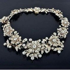 """Victorian era diamond necklace with over 100 carats of sparkling diamonds Signed """"Petochi"""""""