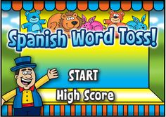 ABCya!! Spanish Word Matching Game - Lots of Categories http://www.abcya.com/spanish_vocabulary.htm