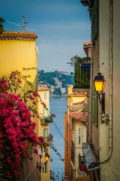 Mediterranean views, Nice, France #Mediterranean #Sea #view #street #France #Villefranche