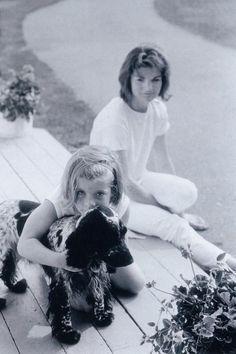 JACKIE WITH CAROLINE AND FAMILY DOG