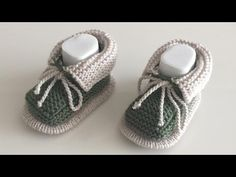 Baby Booties Knitting Pattern, Knit Baby Booties, Baby Knitting, Crochet Baby, Free Crochet, Knitting Patterns, Crochet Patterns, Diy Crafts Crochet, Baby Converse