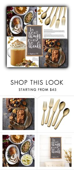"""In All Things Give Thanks"" by modest-cute ❤ liked on Polyvore featuring interior, interiors, interior design, home, home decor, interior decorating, Williams-Sonoma, homedesign and homeset"