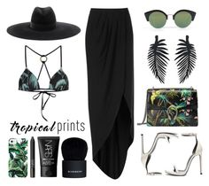 """""""Hot Tropics"""" by eva-jez ❤ liked on Polyvore featuring Gucci, Wildfox, Boutique, Yves Saint Laurent, Cheap Monday, Milly, NARS Cosmetics, Givenchy, tropicalprints and hottropics"""