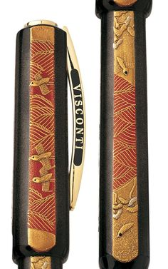 Visconti Four Seasons Maki-e Limited Edition Fountain Pen image of Summer cap and barrel
