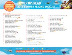 2015 Summer Reading Challenge Booklist - Young Adult. #summerreading