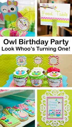 Owl Birthday Party Ideas. Great party for boys or girls!
