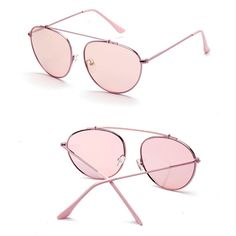 9e02582c678 Women s Retro Metal Frame Mirrored Lens Sunglasses Outdoor Glasses Eyewear  New