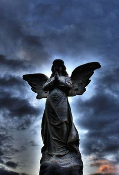 An angel headstone from a cemetery in Heidelberg, Germany.
