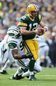 Aaron Rodgers Photos: New York Jets v Green Bay Packers