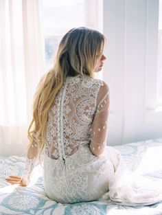 Claire Pettibone 'Lily' wedding dress, Still Life Collection | Photo: Wendy Laurel feat. on Style Me Pretty http://www.clairepettibone.com/lily