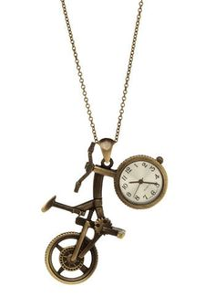 Timed Race Watch Necklace