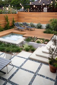 Looks so peaceful and interesting at the same time. backyard landscape design