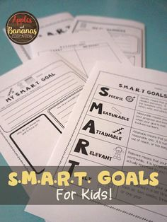 Teach kids how to set and achieve S.M.A.R.T. goals. This packet includes graphic organizers, posters, cut-and-paste activities, and more. Perfect way to start a new year or semester. Ideal for grades 3-5.