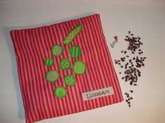 Traubenkernkissen #Traubenkernkissen #Wärmekissen #rot #rosa #grün #Streifen #Punkte