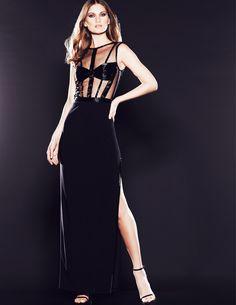 Holiday Dressing: @MignonFashions Bead Illusion Bodice w/ Jersey Skirt