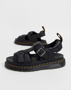 Shop Dr Martens Hayden sandals in black at ASOS. Dr Martens Sandals, Dr Martens Style, African Dresses Men, Shoe Pattern, Soft Suede, Women Sandals, Summer Nights, Huaraches, Dr. Martens