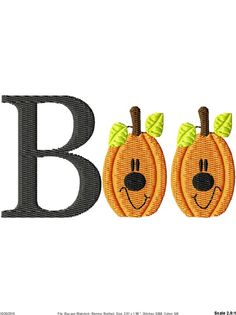 Boo Halloween Pumpkins Machine Embroidery by SimplySweetEmbroider, $4.00