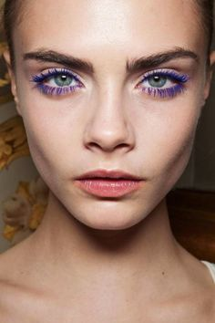 plum or violet eye liner or shadow makes green eyes pop