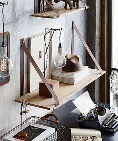 Leather Strap Shelf - 39.25