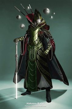 Sci fi warrior Shaman, Hakim Rafai on ArtStation at https://www.artstation.com/artwork/982zW