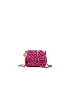 M-Missoni - CYCLAMEN LUREX & RAFFIA MINI BAG