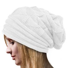 Women Lady Fashion Crochet Knitting Baggy Beanie
