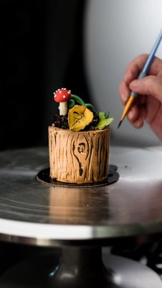 Cake Decorating Frosting, Cake Decorating Designs, Creative Cake Decorating, Cake Decorating Videos, Cake Decorating Techniques, Creative Cakes, Cake Designs, Mini Cakes, Cupcake Cakes