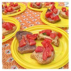 ecco le #bruschette e #freselle con il buon #pane di Farina nel sacco! Grazie a voi un successo