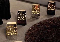 "DIY luminaries...I did these for a ""red carpet affair"" themed event!"