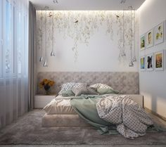 Дизайн квартиры в стиле минимализм Bed Design, House Design, Diy Wall Painting, Interior And Exterior, Interior Design, Condominium, Room Decor Bedroom, Furniture, Home Decor