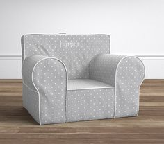 Gray Pin Dot Oversized Anywhere Chair®   Pottery Barn Kids