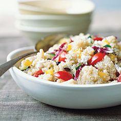 Cooking with Quinoa: 22 Recipes | Colorful Quick Quinoa Grecian Salad | CookingLight.com