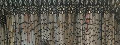 La cortina de macramé puede ser también de color negro
