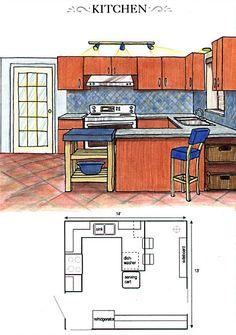 Find This Pin And More On Kitchen Floor Plans Sketches