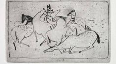 """Auf der Koppel der Moderne: Zoran Musics """"Cavallini"""" von 1948 (Auflage 40) hier als Künstlerabzug für 8000 Euro bei der Galerie Terrades."""