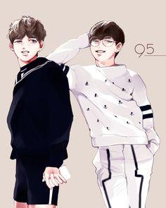 BTS V and Jimin fan art