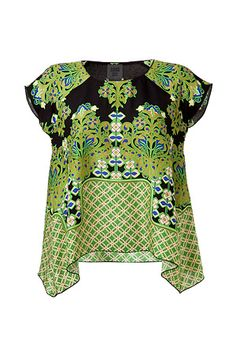 top by Anna Sui... could see this paired with a pencil skirt for a very current take on the 40s when chinoiserie was big