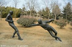 Fencing statues